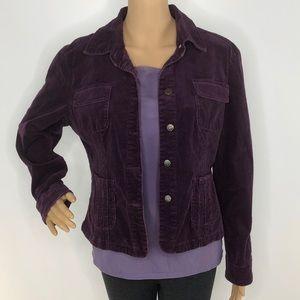 Live A Little Purple Corduroy Blazer Jacket Med